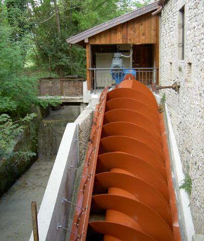 Impianto a turbina a coclea sito in Sedegliano da Ins.El. snc